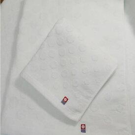 今治タオル ドットホワイトフェイスタオル×バスタオルお得なセットお買い得 まとめ買い日本製 シンプル 使いやすい 部屋干しにも