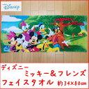 【メール便OK】ディズニー ミッキー&フレンズシャーリングフェイスタオル  約34x80cm