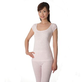 コベス 神戸生絲 シルクインナーウェア シルク 100% シルクノイル1分袖スリーマ (汗取りパッド付き) 女性用 インナー