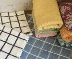 HomeCasual柄物バスタオル5枚セット【約60×120】800匁大人かわいいカジュアル柄バスタオル