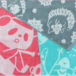 HomeCasualアニマル柄物フェイスタオル【約34×80】300匁大人かわいいカジュアル柄フェイスタオルパンダねこハリネズミ