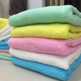 カラー無地バスタオルカラー選べる10枚セット【約60×125cm 800匁】タイ製 吸水 速乾 綿100% まとめ買い