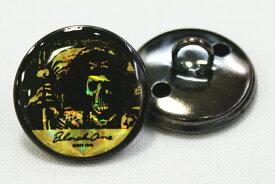 【学生ボタン】B1エポキボタン(ドクロ/ゴールド)前ボタンと袖ボタン選べます ☆メール便対応☆