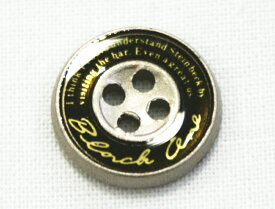 【学生ズボンボタン】ピスボタン(エポキ金属/ロゴ:金/バック:黒) ☆メール便対応☆