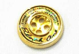 【学生ズボンボタン】ピスボタン(エポキ金属/ロゴ:黒/バック:金) ☆メール便対応☆