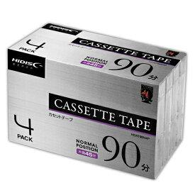 4個セット HIDISC カセットテープ ノーマルポジション 90分 4巻 HDAT90N4PX4