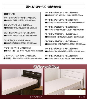 棚照明付きラインデザインベッド(ボンネルコイルマットレス付)ワイドキング280