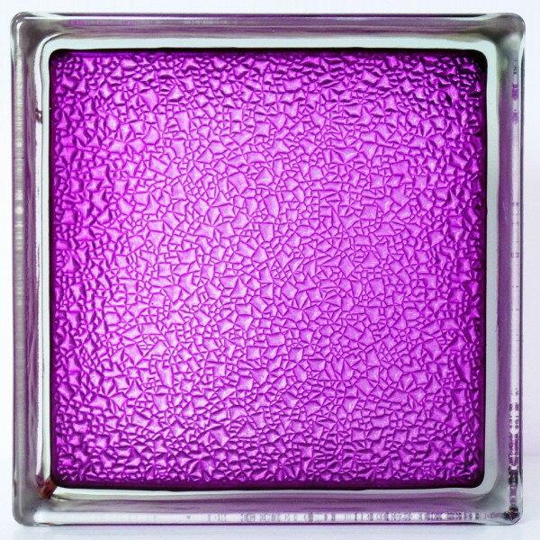 【送料無料】6個セット ガラスブロックガラス 国際基準サイズ 厚み80mm紫色星 屋内専用