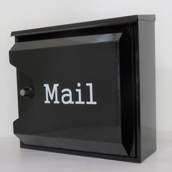 【送料無料】郵便ポスト 郵便受け 錆びない メールボックス壁掛け黒色 ステンレスポスト(black)