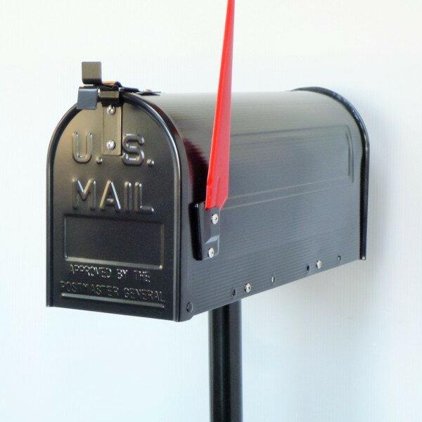 【送料無料】郵便ポスト 郵便受け USメールボックススタンドタイプお洒落なブラック色ポスト(black)