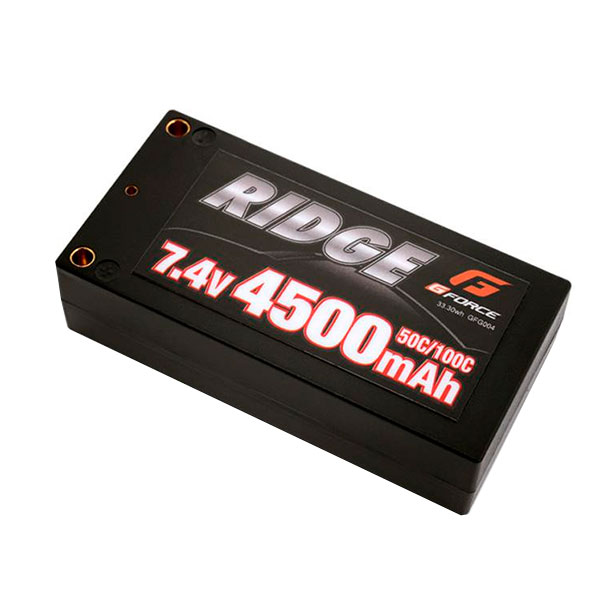 【ポイント20倍】G-FORCE ジーフォース RIDGE LiPo Battery 7.4V 4500mAh GFG004