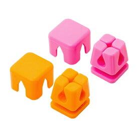 【スーパーセールでポイント最大44倍】ミヨシ ケーブルホルダー キューブ型 Mサイズ ピンク、オレンジ CM-CHCM/AS2