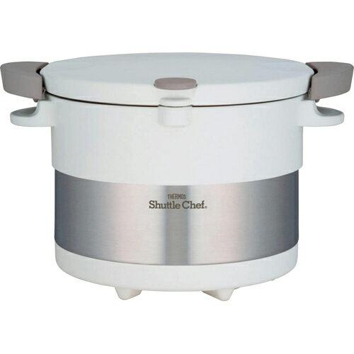 サーモス 真空保温調理器 シャトルシェフ(3L) ピュアーホワイト C7199639 C8204076