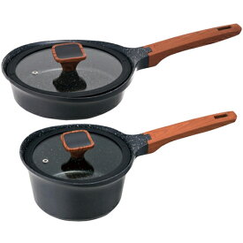 ワンダーシェフ ララミー 片手鍋18cm+フライパン20cmセット C7190539 B3162025 C9178558