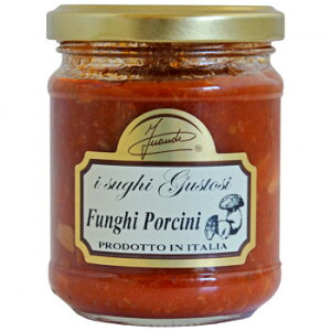 【クーポン配布中】【同梱・代引き不可】イタリア INAUDI社 イナウディ トマトとポルチーニ茸のパスタソース 180g×6個 S1