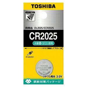 (まとめ) ボタン電池 東芝 コイン形リチウム電池  CR2025EC 4904530015427  1個【30×セット】