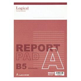 (まとめ) レポートパッド ナカバヤシ スイング・ロジカルレポートパッド レッド RP-B501A 4902205563594 ●規格:B5判●中紙枚数:80枚 1冊【50×セット】