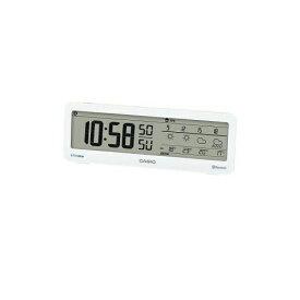 CASIO 電波置時計 デジタル表示 モバイルリンク機能 音声案内付天気情報お知らせクロック DWS-200J-7JF