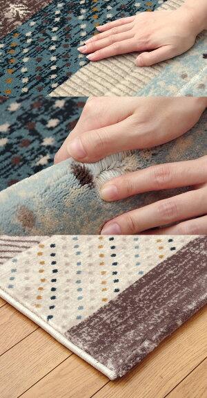 ブルー(blue)160×235★トルコ製ウィルトン織りカーペット送料無料