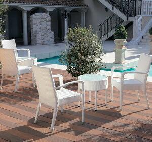 ガーデンテーブル丸500屋外使用可★ロッシュホワイト業務用家具シリーズGARDEN(ガーデン)送料無料店舗施設コントラクト