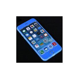 ITPROTECH 全面保護スキンシール for iPhone6/ブルー YT-3DSKIN-BL/IP6
