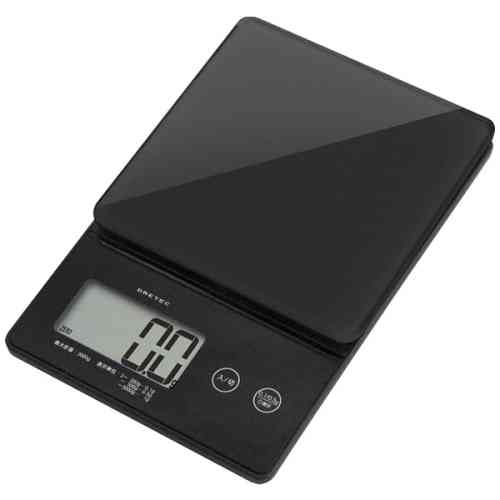 DRETEC キッチンスケール デジタルスケール ストリーム 2kg はかり 0.1g単位ではかれるシンプルな高精度スケール KS-245BK