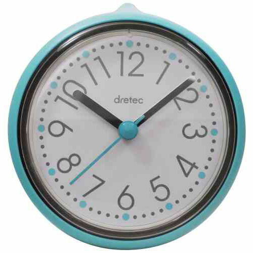 【スーパーセールでポイント最大43倍】DRETEC おふろクロック スパタイム かわいいフォルムの防滴時計 C-110BL