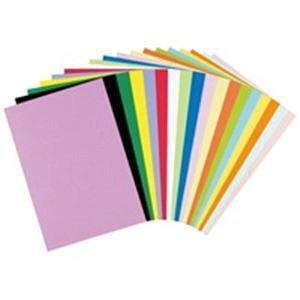 (業務用2セット)リンテック 色画用紙/工作用紙 【八つ切り 100枚】 ひまわり NC318-8