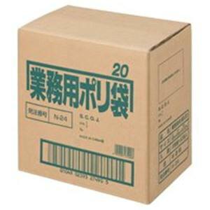 日本サニパック ポリゴミ袋 N-24 半透明 20L 10枚 60組