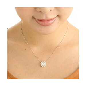 K18WG合計1ctダイヤモンドペンダント