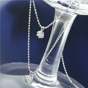 プラチナダイヤモンド2連ネックレス計0.5ct