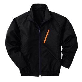 空調服 ポリエステル製長袖ブルゾン P-500BN 【カラー:ブラック サイズ:XL】 電池ボックスセット