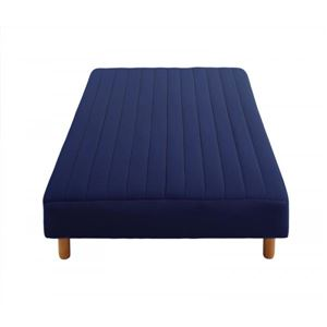 【送料無料】新・色・寝心地が選べる!20色カバーリングボンネルコイルマットレスベッド脚22cmシングルミッドナイトブルー