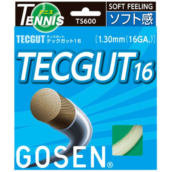 【ポイント20倍】GOSEN(ゴーセン) テックガット テックガット16 TS600W20P