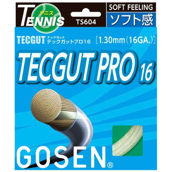 【ポイント20倍】GOSEN(ゴーセン) テックガット テックガットプロ16 TS604NA