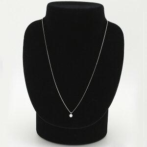 ダイヤモンドネックレス一粒K18ホワイトゴールド0.3ctダイヤネックレス6本爪IカラーSIクラスExcellent中央宝石研究所ソーティング済み