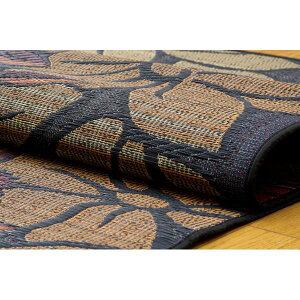 純国産袋織い草カーペット『なでしこ』ブルー江戸間6畳(約261×352cm)