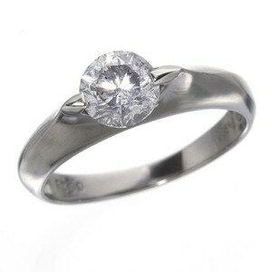 PT900(プラチナ)0.9ctダイヤモンドリング(指輪)15971315号【鑑別書付き】