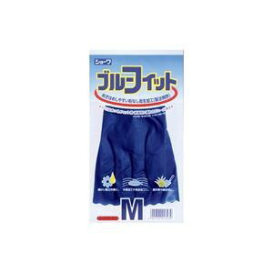 (業務用40セット)ショーワグローブ ゴム手袋ブルーフィット Mサイズ 181