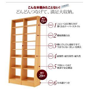 本棚・連結棚セットダークブラウン無限横連結本棚【+Plus】プラス本体+横連結棚3体セット【代引不可】