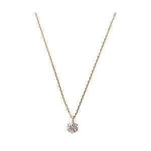 K18ピンクゴールド天然ダイヤモンドネックレスダイヤ0.2CTネックレス