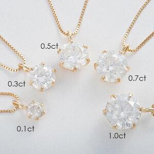 K180.3ctダイヤモンドペンダントベネチアンチェーン