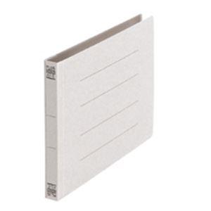 (業務用5セット) プラス フラットファイル/紙バインダー 【A5/2穴 10冊入り】 ヨコ型 042N グレー(灰) ×5セット