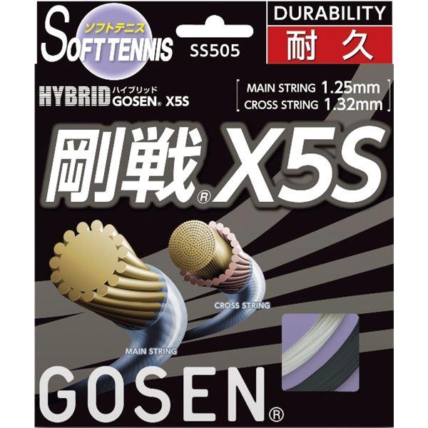 【ポイント20倍】GOSEN(ゴーセン) ハイブリッド 剛戦X5S ブラック SS505BK