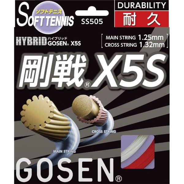 【ポイント20倍】GOSEN(ゴーセン) ハイブリッド 剛戦X5S レッド SS505RE