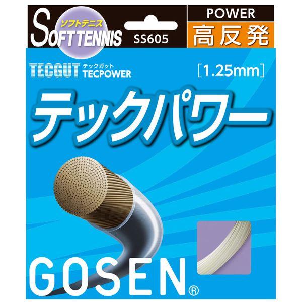 【ポイント20倍】GOSEN(ゴーセン) テックガット テックパワー SS605NA