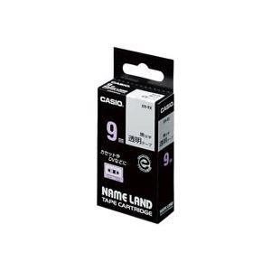(業務用50セット)カシオCASIO透明テープXR-9X透明に黒文字9mm【×50セット】