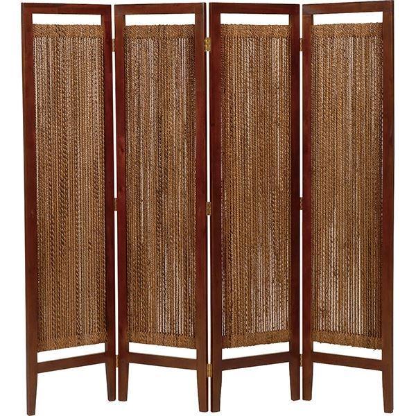 【ポイント20倍】パーテーション(スクリーン) グランツシリーズ 4連 木製 高さ150cm アジアン風 ナチュラル【代引不可】