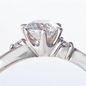 Dカラー・VVS2・EXPt0.3ctダイヤリング両側ダイヤモンド(鑑定書付き)20号