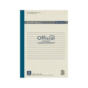 (業務用セット) アピカ オフィシャルノート 無線綴じノート B罫(6mm) エコタイプ 6B4FE 1冊入 【×10セット】